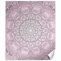 Pink Mandala art  Canvas 8  x 10