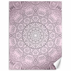 Pink Mandala art  Canvas 12  x 16