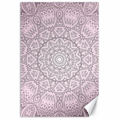 Pink Mandala art  Canvas 12  x 18