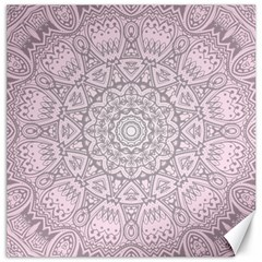 Pink Mandala art  Canvas 16  x 16