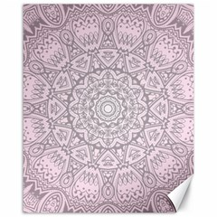 Pink Mandala art  Canvas 16  x 20