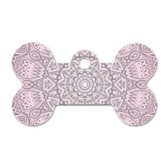 Pink Mandala art  Dog Tag Bone (Two Sides)