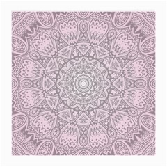 Pink Mandala art  Medium Glasses Cloth