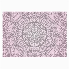 Pink Mandala art  Large Glasses Cloth (2-Side)