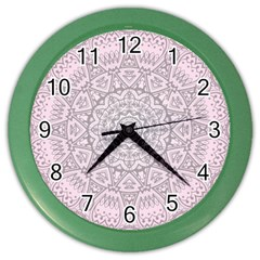 Pink Mandala art  Color Wall Clocks