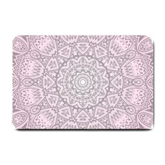 Pink Mandala art  Small Doormat