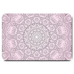 Pink Mandala art  Large Doormat