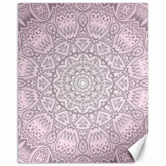 Pink Mandala art  Canvas 11  x 14