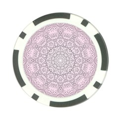 Pink Mandala art  Poker Chip Card Guard