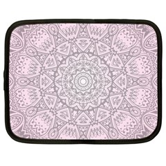 Pink Mandala art  Netbook Case (Large)