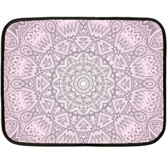 Pink Mandala art  Double Sided Fleece Blanket (Mini)