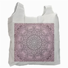 Pink Mandala art  Recycle Bag (Two Side)