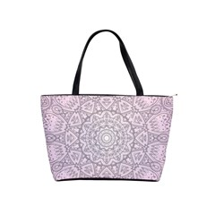 Pink Mandala art  Shoulder Handbags