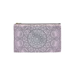 Pink Mandala art  Cosmetic Bag (Small)