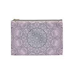 Pink Mandala art  Cosmetic Bag (Medium)