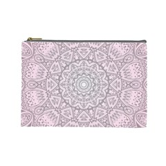 Pink Mandala art  Cosmetic Bag (Large)