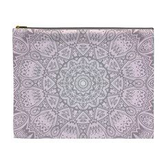 Pink Mandala art  Cosmetic Bag (XL)