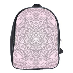 Pink Mandala art  School Bag (Large)