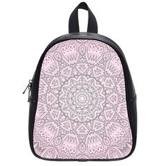 Pink Mandala art  School Bag (Small)