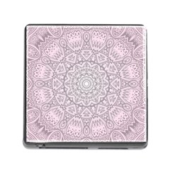 Pink Mandala art  Memory Card Reader (Square)