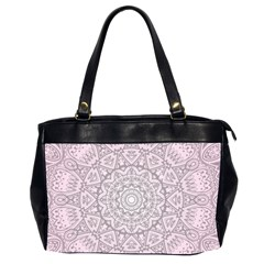 Pink Mandala art  Office Handbags (2 Sides)