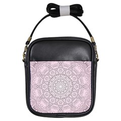 Pink Mandala art  Girls Sling Bags
