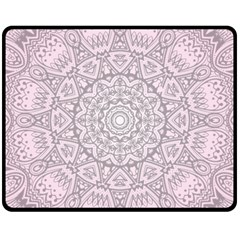 Pink Mandala art  Fleece Blanket (Medium)