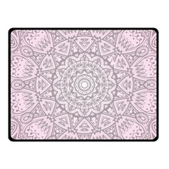 Pink Mandala art  Fleece Blanket (Small)