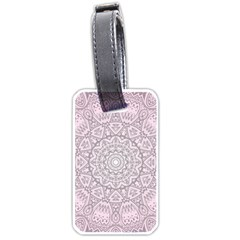 Pink Mandala art  Luggage Tags (One Side)