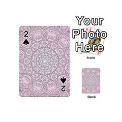 Pink Mandala art  Playing Cards 54 (Mini)
