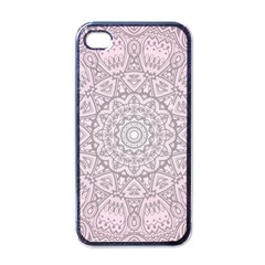 Pink Mandala art  Apple iPhone 4 Case (Black)