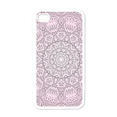 Pink Mandala Art  Apple Iphone 4 Case (white) by paulaoliveiradesign