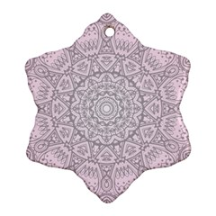 Pink Mandala Art  Ornament (snowflake) by paulaoliveiradesign