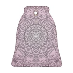 Pink Mandala Art  Bell Ornament (two Sides) by paulaoliveiradesign