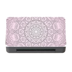 Pink Mandala art  Memory Card Reader with CF