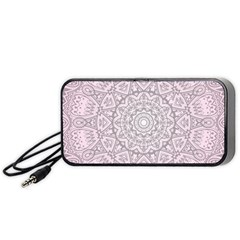 Pink Mandala art  Portable Speaker (Black)