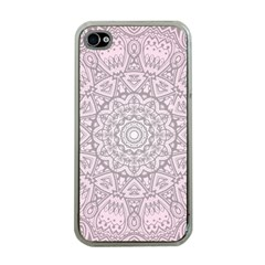 Pink Mandala Art  Apple Iphone 4 Case (clear) by paulaoliveiradesign