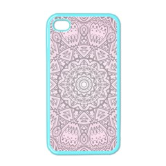 Pink Mandala Art  Apple Iphone 4 Case (color) by paulaoliveiradesign