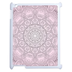 Pink Mandala art  Apple iPad 2 Case (White)