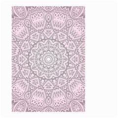 Pink Mandala art  Small Garden Flag (Two Sides)