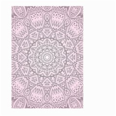 Pink Mandala art  Large Garden Flag (Two Sides)