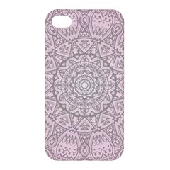 Pink Mandala Art  Apple Iphone 4/4s Premium Hardshell Case by paulaoliveiradesign