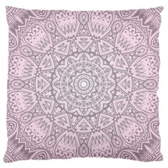Pink Mandala art  Large Cushion Case (Two Sides)