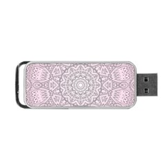 Pink Mandala art  Portable USB Flash (One Side)