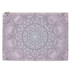 Pink Mandala art  Cosmetic Bag (XXL)