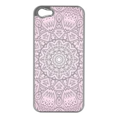 Pink Mandala art  Apple iPhone 5 Case (Silver)