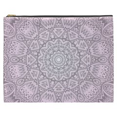 Pink Mandala art  Cosmetic Bag (XXXL)