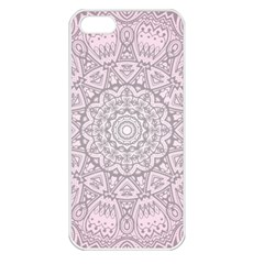 Pink Mandala Art  Apple Iphone 5 Seamless Case (white) by paulaoliveiradesign