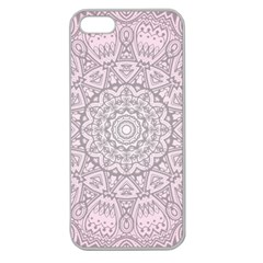 Pink Mandala Art  Apple Seamless Iphone 5 Case (clear) by paulaoliveiradesign