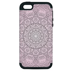 Pink Mandala art  Apple iPhone 5 Hardshell Case (PC+Silicone)